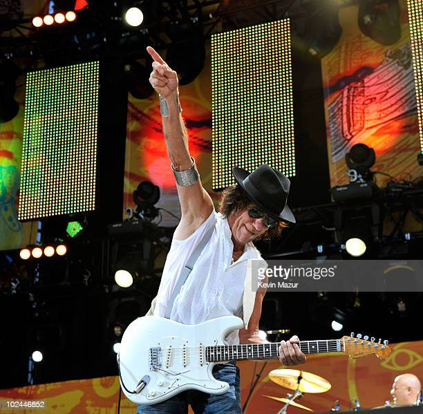 Jeff Beck performs onstage during the 2010 Crossroads Guitar Festival at Toyota Park on June 26 2010 in Bridgeview Illinois