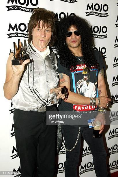 Jeff Beck winner of the MOJO Les Paul Award and Slash