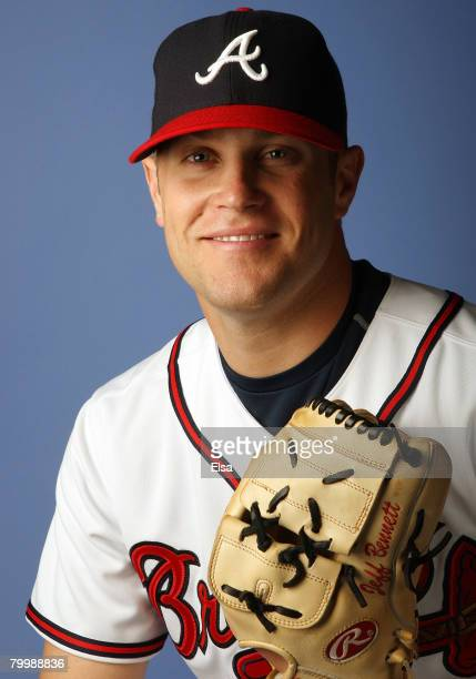 Jeff Bennett of the Atlanta Braves poses during photo day on February 25 2008 at Disney's Wide World of Sports in Kissimmee Florida