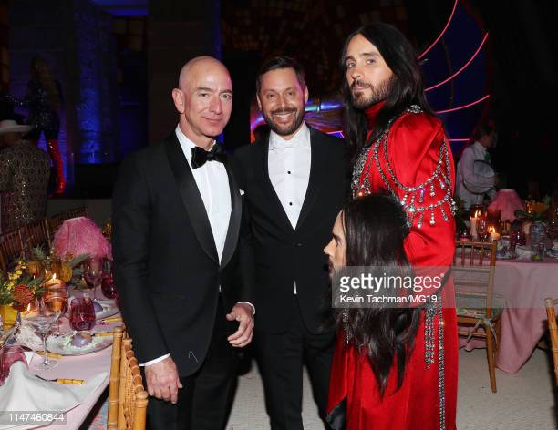 Jeff Bezos and Jared Leto attend The 2019 Met Gala Celebrating Camp Notes on Fashion at Metropolitan Museum of Art on May 06 2019 in New York City