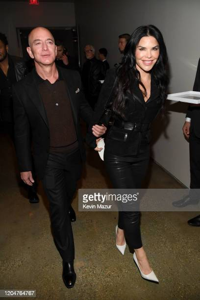 Jeff Bezos and Lauren Sanchez attend the Tom Ford AW20 Show at Milk Studios on February 07 2020 in Hollywood California