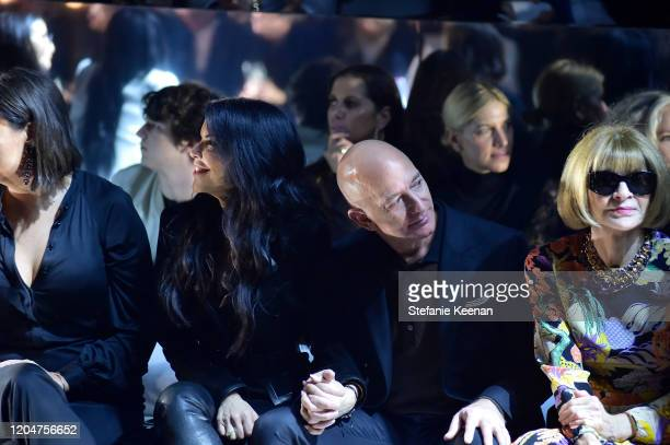 Jeff Bezos and Lauren Sanchez attend Tom Ford: Autumn/Winter 2020 Runway Show at Milk Studios on February 07, 2020 in Los Angeles, California.
