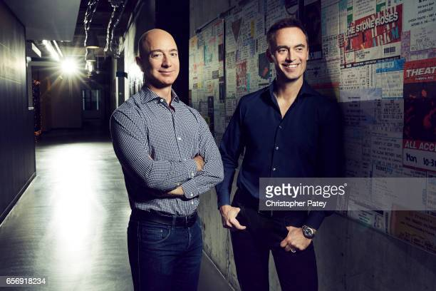 Jeff Bezos and Steve Boom are photographed for Billboard Magazine on January 20 2017 in Seattle Washington