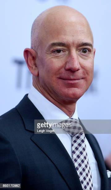Jeff Bezos arrives at 'The Post' Washington DC Premiere at The Newseum on December 14 2017 in Washington DC