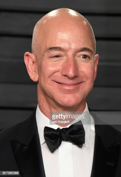 Jeff Bezos attends the 2018 Vanity Fair Oscar Party hosted by Radhika Jones at Wallis Annenberg Center for the Performing Arts on March 4 2018 in...