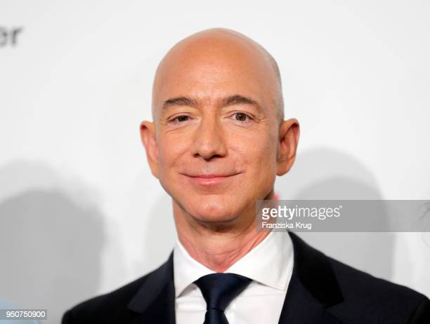 Jeff Bezos attends the Axel Springer Award 2018 on April 24 2018 in Berlin Germany Under the motto An Evening for Jeff Bezos receives the Axel...
