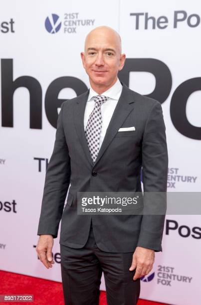 Jeff Bezos attends the 'The Post' Washington DC Premiere at The Newseum on December 14 2017 in Washington DC