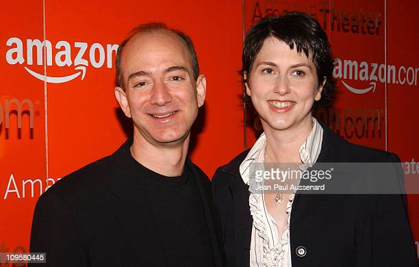 Jeff Bezos CEO of Amazon and wife Mackenzie Bezos
