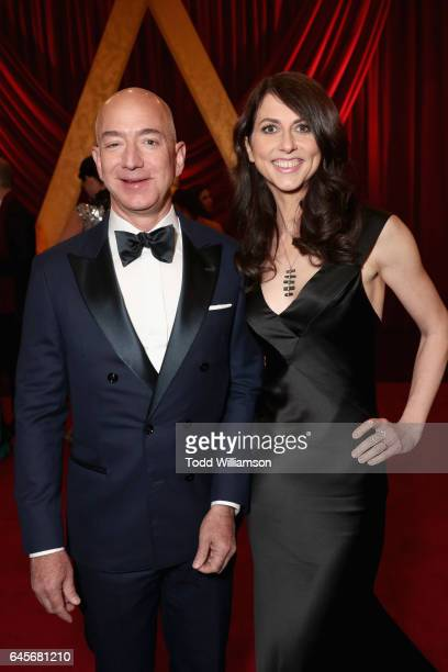 Jeff Bezos Chief Executive Officer of Amazon and MacKenzie Bezos attend the 89th Annual Academy Awards at Hollywood Highland Center on February 26...