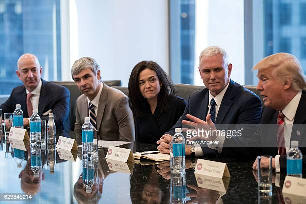 Jeff Bezos chief executive officer of Amazon Larry Page chief executive officer of Alphabet Inc Sheryl Sandberg chief operating officer of Facebook...