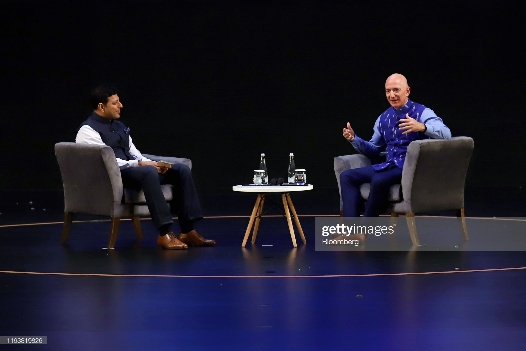 Jeff Bezos's India Visit Marked By Probe and Protests : News Photo