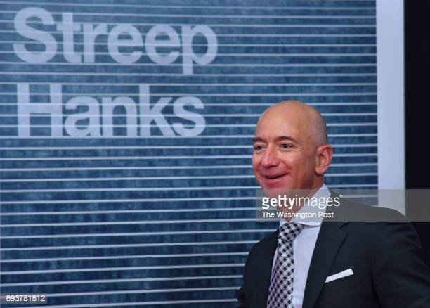 Jeff Bezos founder of Amazoncom arrives at the movie premiere tonight The world premiere of the movie 'The Post' took place at the Newseum in...