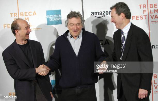 Jeff Bezos founder/CEO of Amazoncom Robert De Niro cofounder of the Tribeca Film Festival and John Hayes chief marketing officer of American Express