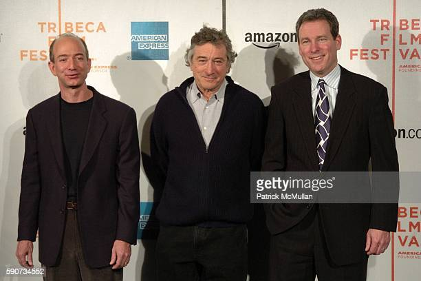 Jeff Bezos Robert De Niro and John Hayes attend The Tribeca Film Festival Announces New Collaborative Partnership with American Express and Amazoncom...