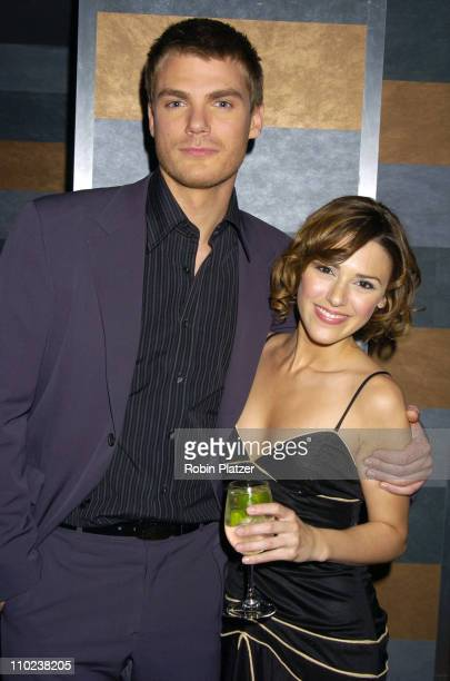 Jeff Branson and Elizabeth Hendrickson during All My Childrens 35th Anniversary Celebration benefitting Broadway Cares Equity Fights Aids at The...