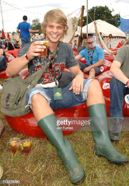 Jeff Brazier in the Virgin Mobile Louder Lounge at the V Festival