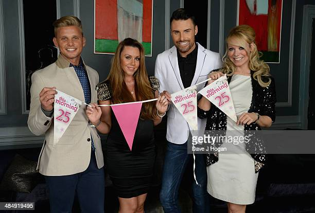 Jeff Brazier Michelle Heaton Rylan Clark and Liz McClarnon pose as they attend the This Morning 25th Anniversary at Home House on November 18 2013 in...