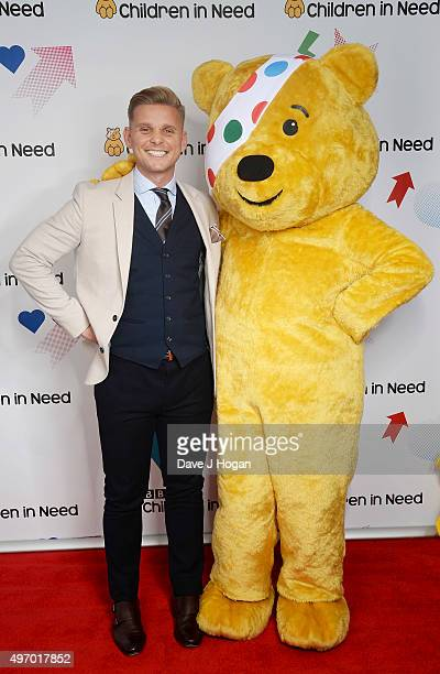 Jeff Brazier shows his support for BBC Children in Need at Elstree Studios on November 13 2015 in Borehamwood England