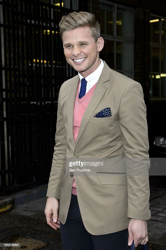 Jeff Brazier sighted departing ITV Studios on January 29, 2013 in London, England.