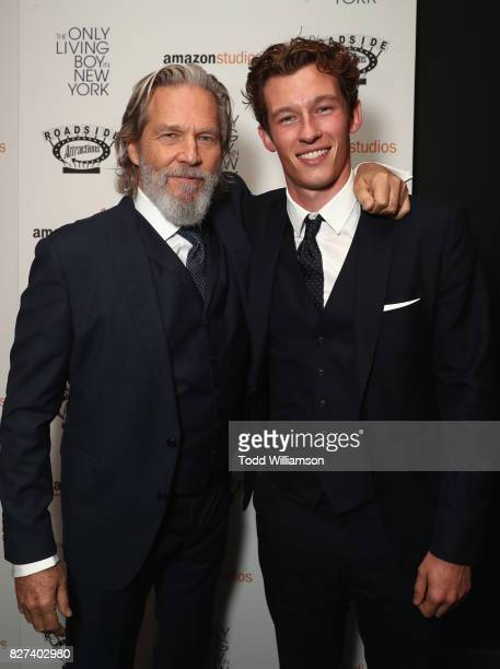 Jeff Bridges and Callum Turner attend 'The Only Living Boy In New York' Premiere at Museum of Modern Art on August 7 2017 in New York City