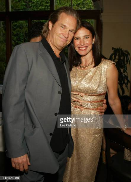 Jeff Bridges and Mimi Rogers during The Door in the Floor Premiere Cocktail Reception at Restaurant NU in Santa Barbara California United States