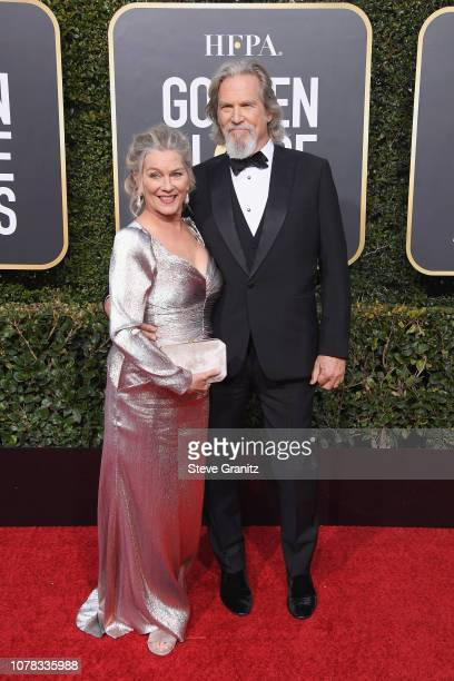 Jeff Bridges and Susan Geston attend the 76th Annual Golden Globe Awards at The Beverly Hilton Hotel on January 6 2019 in Beverly Hills California