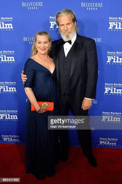 Jeff Bridges and Susan Geston attend the Santa Barbara International Film Festival honors Judi Dench with the annual Kirk Douglas Award For...