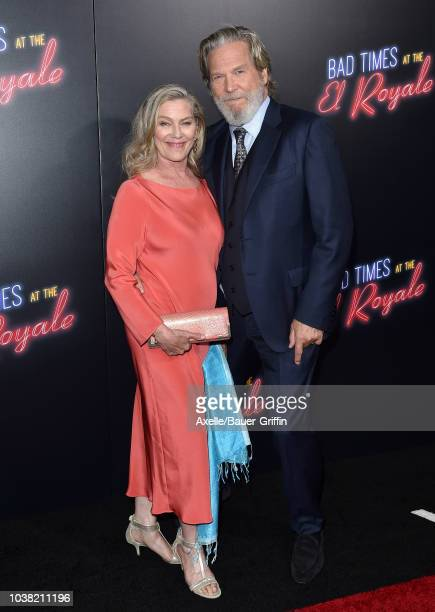 Jeff Bridges and wife Susan Geston attend the premiere of 20th Century FOX's 'Bad Times at the El Royale' at TCL Chinese Theatre on September 22 2018...