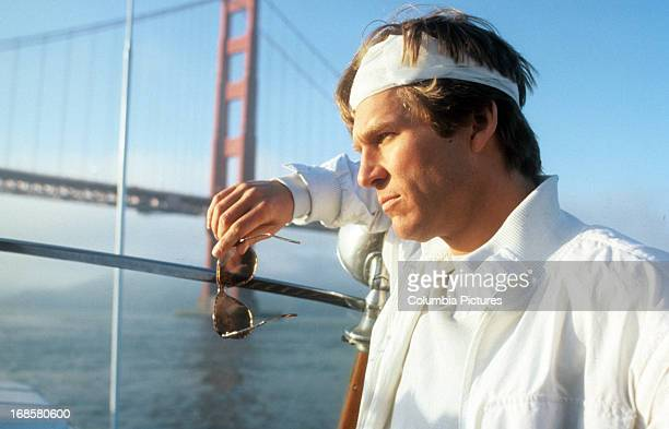 Jeff Bridges at the Golden Gate Bridge in a scene from the film 'Jagged Edge' 1985