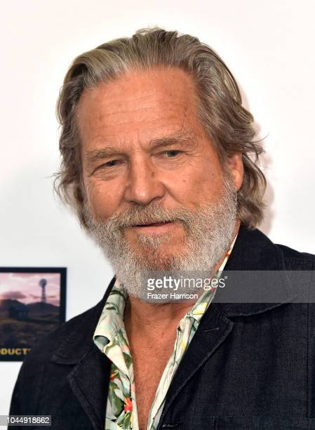 Jeff Bridges attends the Premiere Of Vision Films' 'Living In The Future's Past' at Ahrya Fine Arts Theater on October 2 2018 in Beverly Hills...