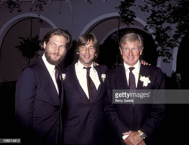 Jeff Bridges Beau Bridges and Lloyd Bridges during Cindy Bridges' Wedding August 31 1979 at Bel Air Hotel in Bel Air California United States