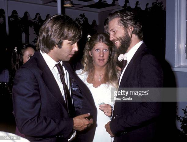Jeff Bridges Cindy Bridges and Beau Bridges during Cindy Bridges' Wedding August 31 1979 at Bel Air Hotel in Bel Air California United States