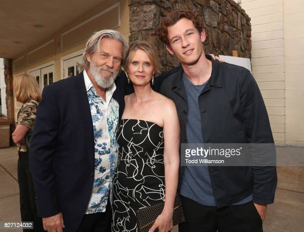 Jeff Bridges Cynthia Nixon and Callum Turner attend a special screening of The Only Living Boy In New York on August 6 2017 in East Hampton New York