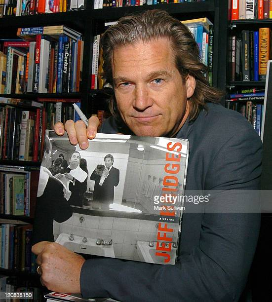 Jeff Bridges during Jeff Bridges Signs His New Book 'Pictures by Jeff Bridges' at Book Soup in West Hollywood California United States