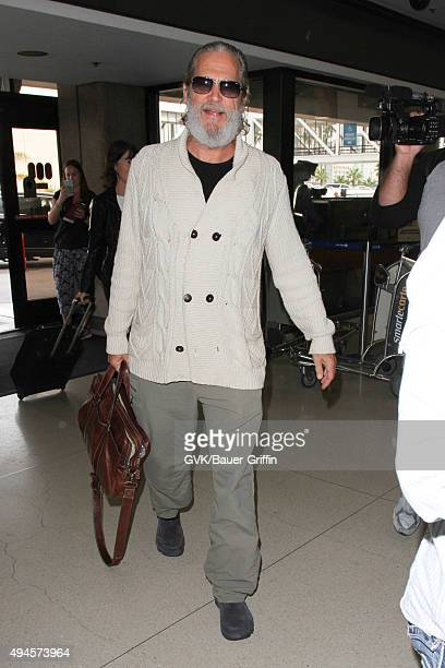 Jeff Bridges is seen at LAX on October 27 2015 in Los Angeles California