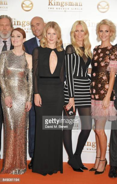 Jeff Bridges Julianne Moore Mark Strong Hanna Alstrom Claudia Schiffer and Poppy Delevingne attend the World Premiere of Kingsman The Golden Circle...