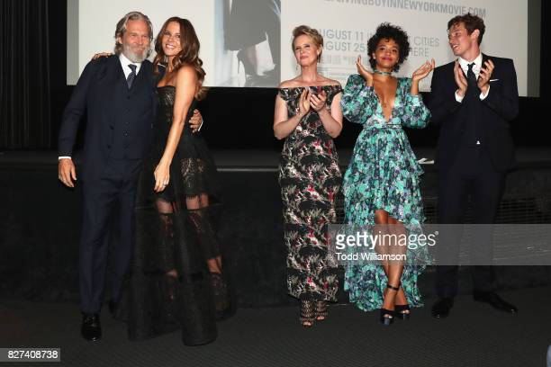 Jeff Bridges Kate Beckinsale Cynthia Nixon Kiersey Clemons and Callum Turner attend 'The Only Living Boy In New York' Premiere at Museum of Modern...