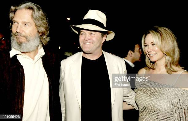 Jeff Bridges Micky Dolenz and wife during 21st Annual Santa Barbara International Film Festival Who Is Harry Nilsson Screening at Marjorie Luke...