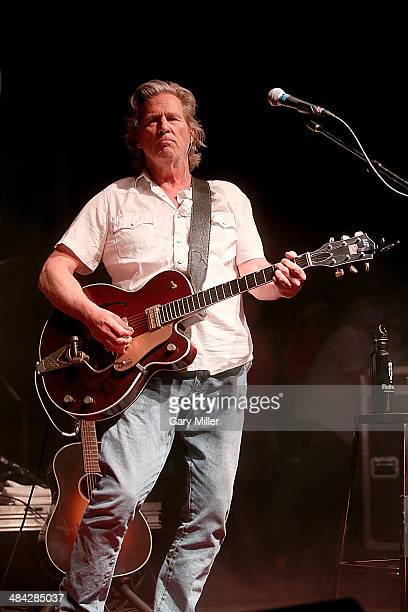 Jeff Bridges performs in concert with The Abiders during the Old Settlers Music Festival on April 11 2014 in San Marcos Texas