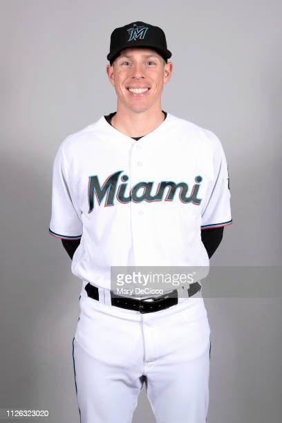 Jeff Brigham of the Miami Marlins poses during Photo Day on Wednesday February 20 2019 at Roger Dean Chevrolet Stadium in Jupiter Florida