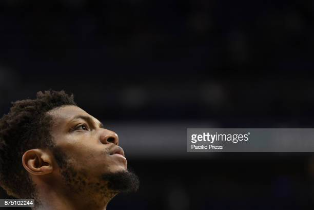 Jeff Brooks #23 of Unicaja pictured during the Euroleague basketball match between Real Madrid and Unicaja Malaga played at WiZink center in Madrid...