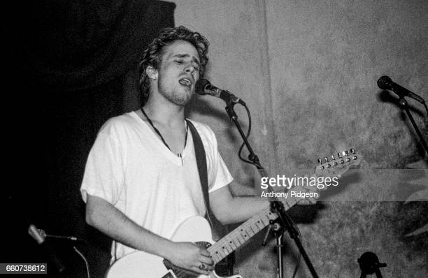 Jeff Buckley performs during soundcheck at Hotel Utah in San Francisco California USA on 21st January 1994