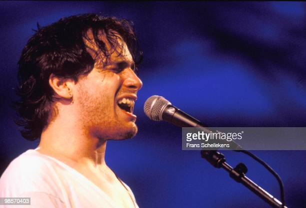 Jeff Buckley performs live on stage at the Lowlands festival near Biddinghuizen, Holland on August 26 1994