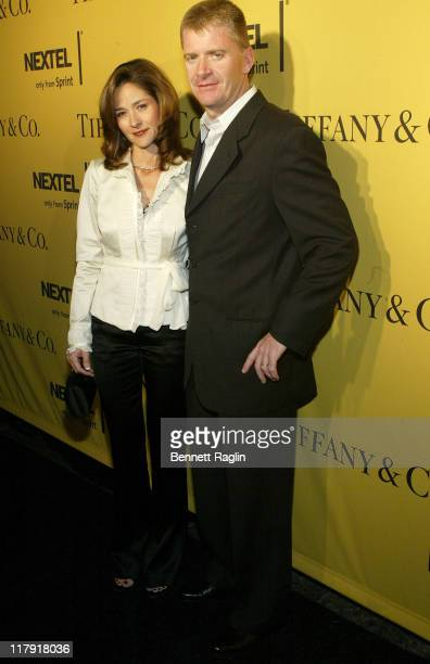 Jeff Burton and Kim Burton during Nascar Nextel Cup Celebrities Make Pit Stop on Fifth Ave at Tiffany Co in New York November 30 2006 in New York...