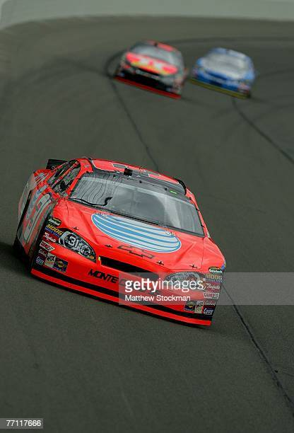 Jeff Burton, driver of the AT&T Chevrolet, races during the NASCAR Nextel Cup Series LifeLock 400 at Kansas Speedway on September 30, 2007 in Kansas...