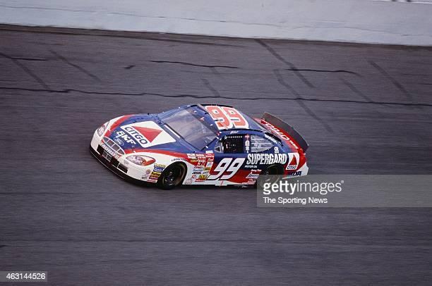 Jeff Burton drives his car during practice for the Daytona 500 at the Daytona International Speedway on February 17 2001 in Daytona Beach Florida
