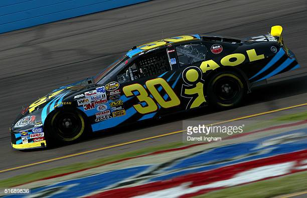 Jeff Burton drives the AOL Chevrolet during practice for the NASCAR Nextel Cup Checker Auto Parts 500 on November 5 2004 at the Phoenix International...