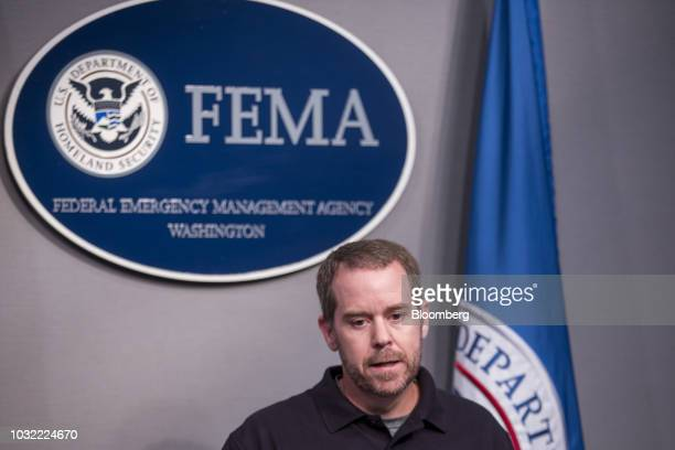 Jeff Byard associate administrator for the Office of Response and Recovery at the Federal Emergency Management Agency speaks during a press...