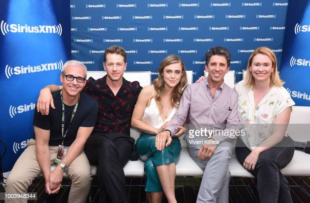 Jeff Cagle Josh Dallas Melissa Roxburgh Jeff Rake and SiriusXM host Julia Cunningham attend SiriusXM's Entertainment Weekly Radio Broadcasts Live...