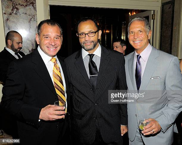 Jeff Caputo Jerson Diaz and Larry Laimo attend An Evening Honoring Joe Namath at The Plaza Hotel on October 20 2016 in New York City